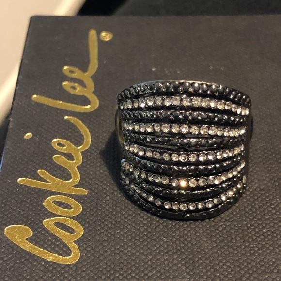 ❣️4/$15 NWT Cookie Lee RS Gunmetal Tone Ring